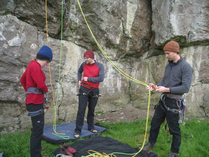 Rock Climbing Photo: Who's going to belay me?