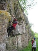 Rock Climbing Photo: Grunting up...