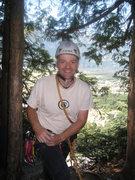 Rock Climbing Photo: Topping out, happy as larry! Fun, fun climb.