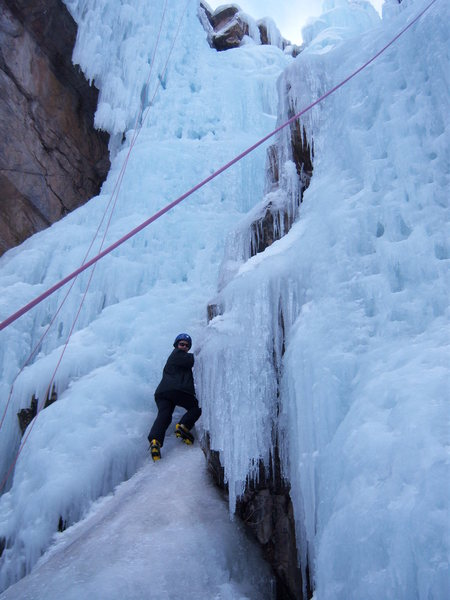 Rock Climbing Photo: my mum!!!