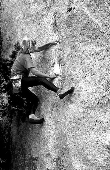 Rock Climbing Photo: Lidija Painkiher bouldering in Tuolumne Meadows. P...
