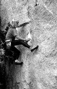 Rock Climbing Photo: Lidija Painkiher bouldering in Tuolumne Meadows. P...