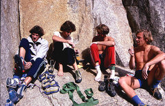 Rock Climbing Photo: Climbing in the 80s. Left to right: Yabo, Peter Ma...