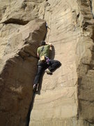 Rock Climbing Photo: Dave above the crux.