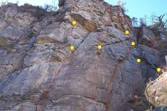 Rock Climbing Photo: Most of the routes in this canyon.  More potential...