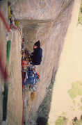 Rock Climbing Photo: The Molar back in pin pounding days