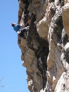 Rock Climbing Photo: Dan going for FA on a new route left of Burnt on F...