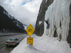 Rock Climbing Photo: Christian Burrell on lovely roadside ice in Provo ...