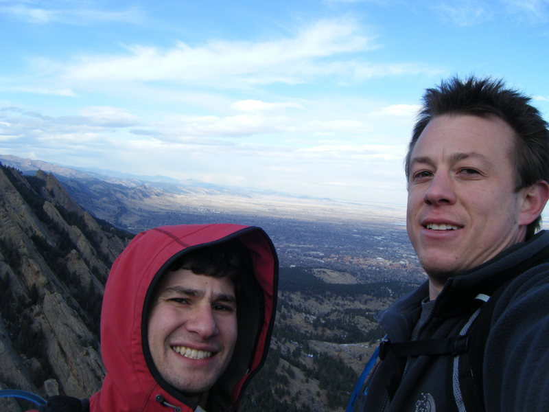 Rock Climbing Photo: On the summit of Seal Rock with Said.