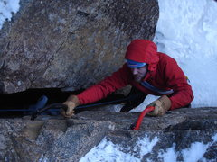 Rock Climbing Photo: Paul on the 20 or so foot section of the Pegasus R...