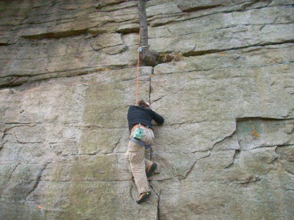 Rock Climbing Photo: Horseman crack Gunks, NY- 10/2009