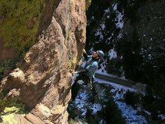 Rock Climbing Photo: Scott entering the business.