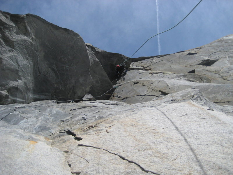 Ryan leading the enormous Mark of Zorro overhang