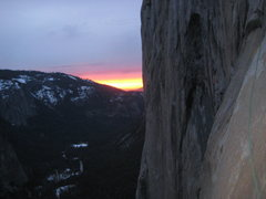 Rock Climbing Photo: Sunset on our final night on the wall