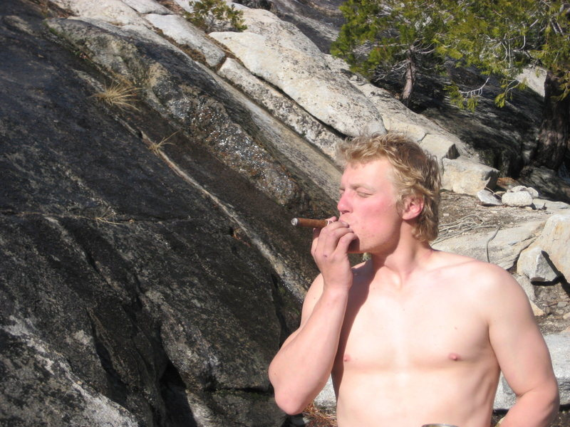 Rock Climbing Photo: Ryan's summit cigar