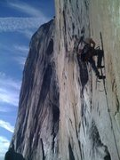 Rock Climbing Photo: Leading the 5th pitch