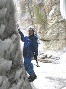 Rock Climbing Photo: Anya on ice 2007