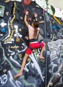 Rock Climbing Photo: Nicole and her gangly 11 yr. old legs high steppin...