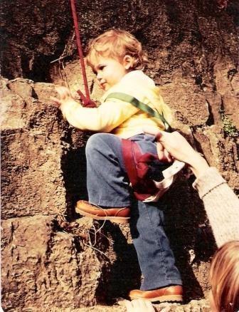 Rock Climbing Photo: Jessica, age 4 on first climb.