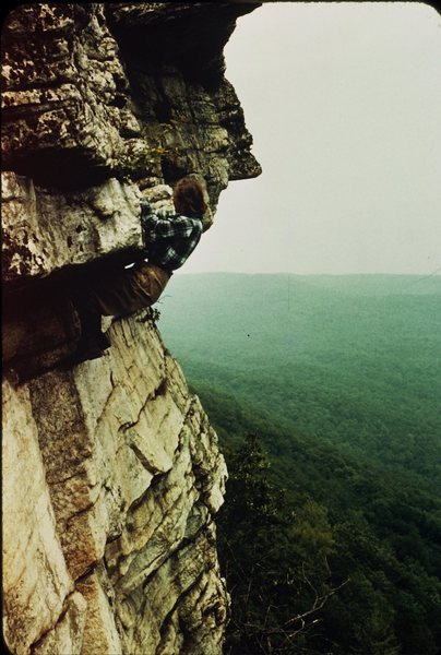 Rock Climbing Photo: 1957 Shockley's Ceiling-climber Marianne Marquardt...