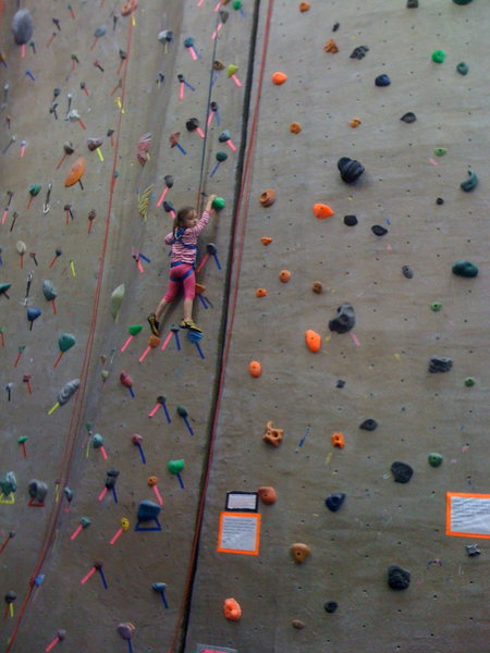 My daughter, Amitan, age 3 at The Boulder Rock Club.  This little lassy LOVES to climb.  Can't wait to get her to Mt. Arapiles on Feb. 20th.