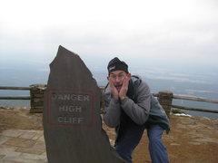 "Rock Climbing Photo: ""High"" is a relative term."