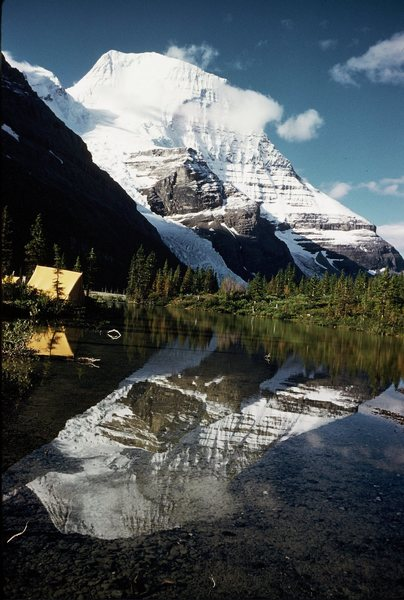 Camp at Berg Lake 1950's