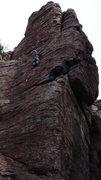 Rock Climbing Photo: Geir leading his and Marcy's still unnamed new cli...