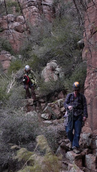 "Rock Climbing Photo: Proud ""parents"" of LDE returning from an..."