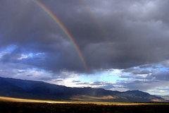 Rock Climbing Photo: Sierra East-side rainbow. Photo by Blitzo.