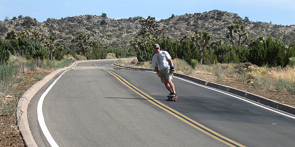 Longboarding down from Keys View.<br> Photo by Blitzo.