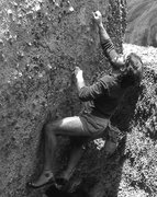 Rock Climbing Photo: Rick Cashner bouldering at The Knobs. Photo by Bli...