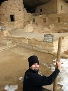 Rock Climbing Photo: Jonny checking out prime Mesa Verde properties in ...
