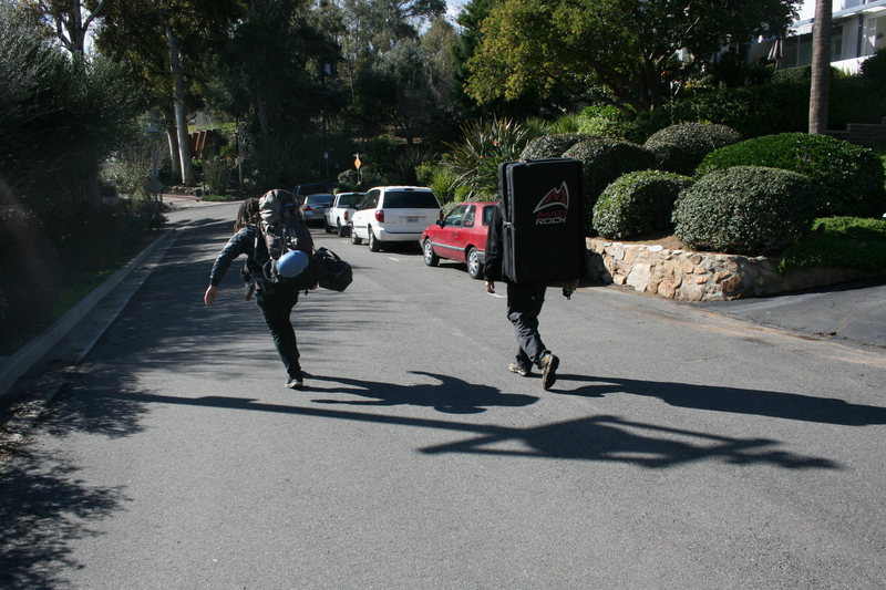 Rock Climbing Photo: Al and his Sherpa RastaRaj heading out. 2-7-10