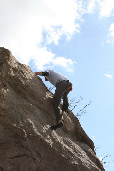 Me on the north end roadside boulders. 2-7-10