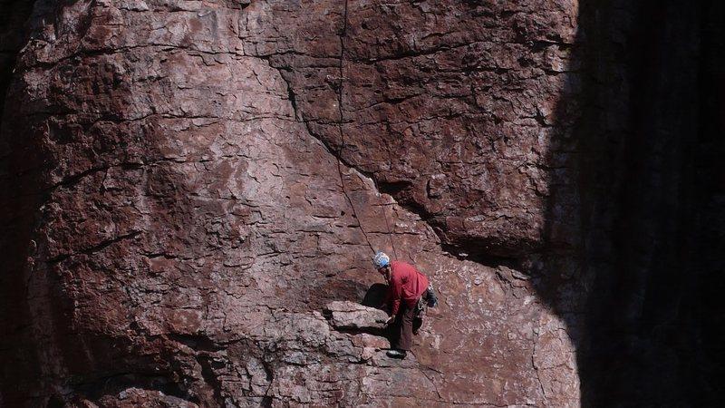 Rock Climbing Photo: Marcy heaving ho part I