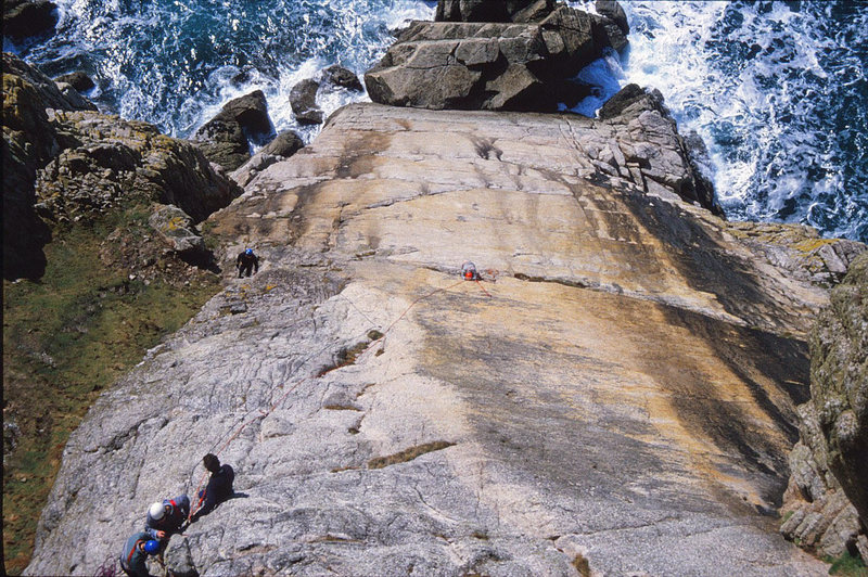 Rock Climbing Photo: Looking down the Devil's Slide from above