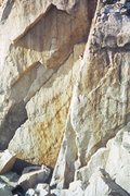 Rock Climbing Photo: Controlled Burning takes the clean crack in the ce...