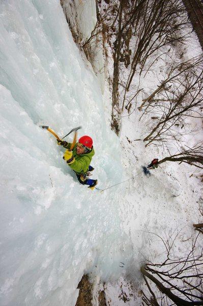 Rock Climbing Photo: Steve Tucker on the Main Route. 07 Feb '10.