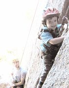 Rock Climbing Photo: Cal, sending in Veedawoo, age 2.