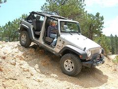 Rock Climbing Photo: My wife and I having fun in my Jeep.
