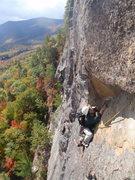 Rock Climbing Photo: Mark following The Last Unicorn