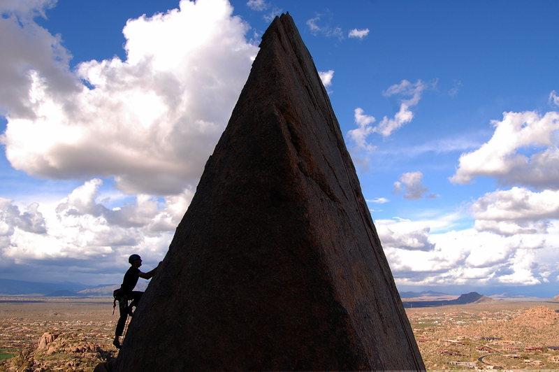 Rock Climbing Photo: Jeff on the wedge