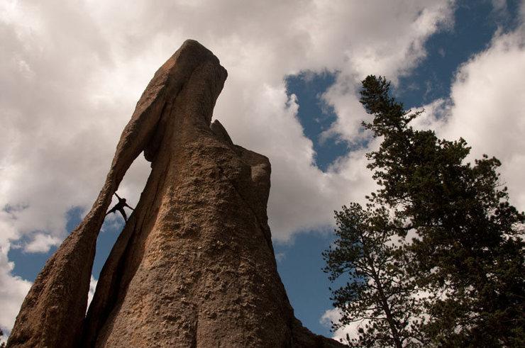 Rock Climbing Photo: me on threading the needle.  photo credit: chen qu...
