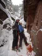 Rock Climbing Photo: Jenna and I atop the Avocado Gully, Redstone Color...