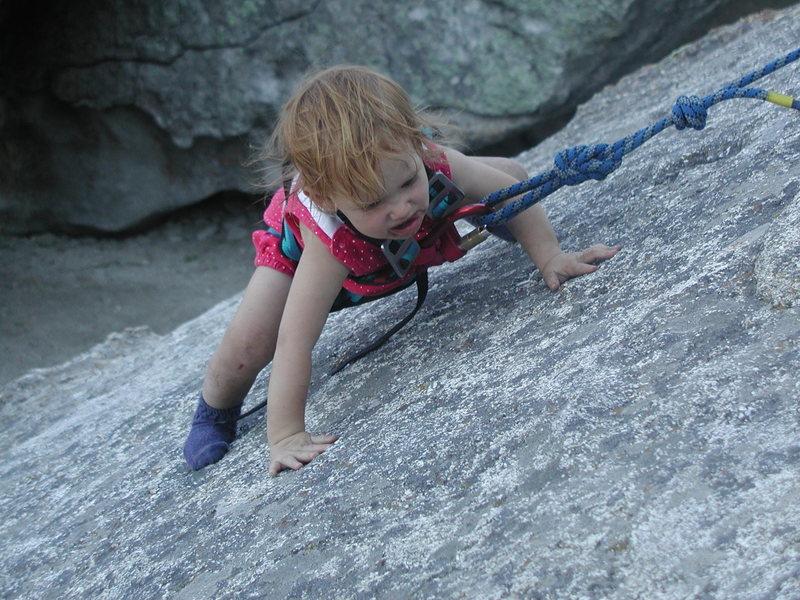 Rock Climbing Photo: Ava at City of Rocks.
