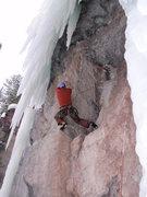Rock Climbing Photo: Brad turning the corner, Nice....pants!