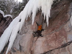 Rock Climbing Photo: Reaching jugs (Mmmmmm!), a bit tougher for short b...