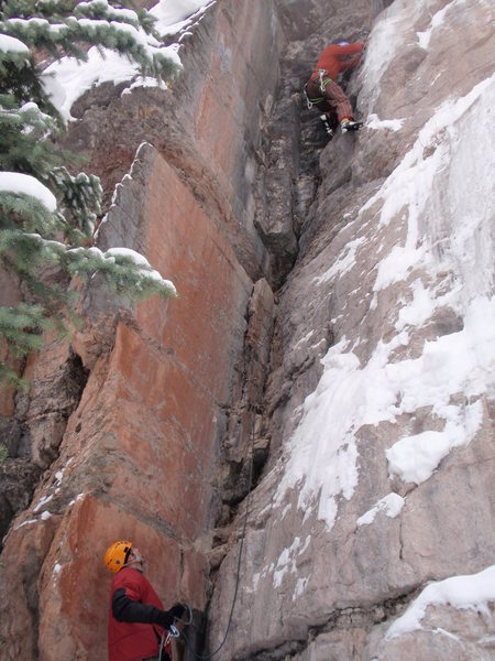 Rock Climbing Photo: Brad G enjoying transitions.