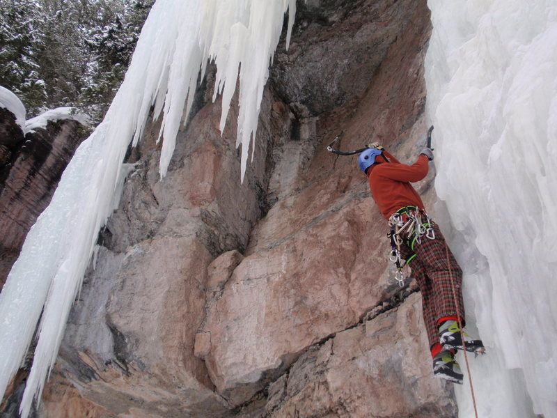"""Rock Climbing Photo: Brad not feeling the """"Pressure""""...of the..."""